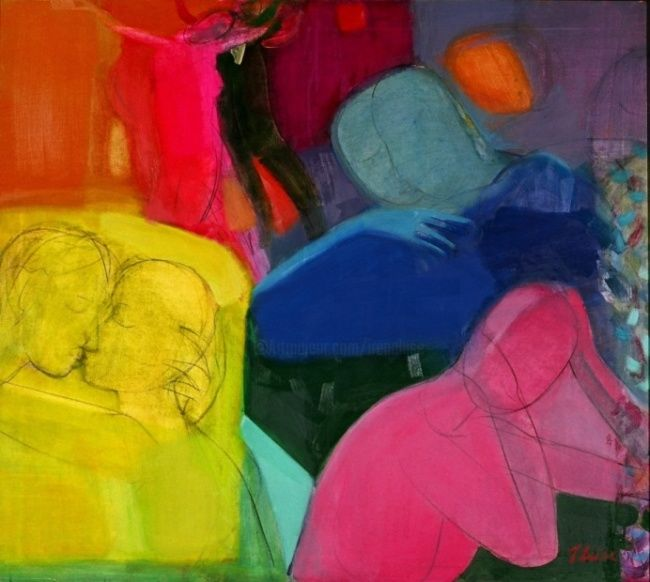 Friday - Painting, ©2007 by Irena Luse -