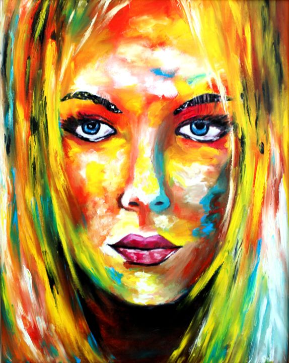 """Painting titled """"Bright and dangerous"""" by Irina Chernobay, Original Art, Oil Mounted on Stretcher frame"""