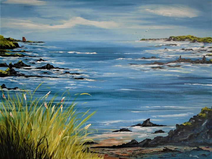 """Painting titled """"Roaring water Bay"""" by Conor Murphy, Original Art, Acrylic"""
