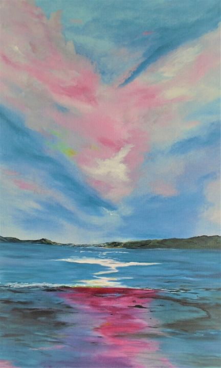"""Painting titled """"Dingle under a pain…"""" by Conor Murphy, Original Art, Acrylic"""