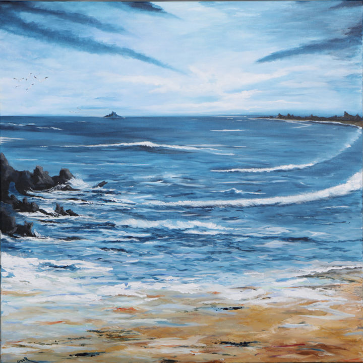 """Painting titled """"The Wild Atlantic W…"""" by Conor Murphy, Original Art, Acrylic Mounted on Stretcher frame"""
