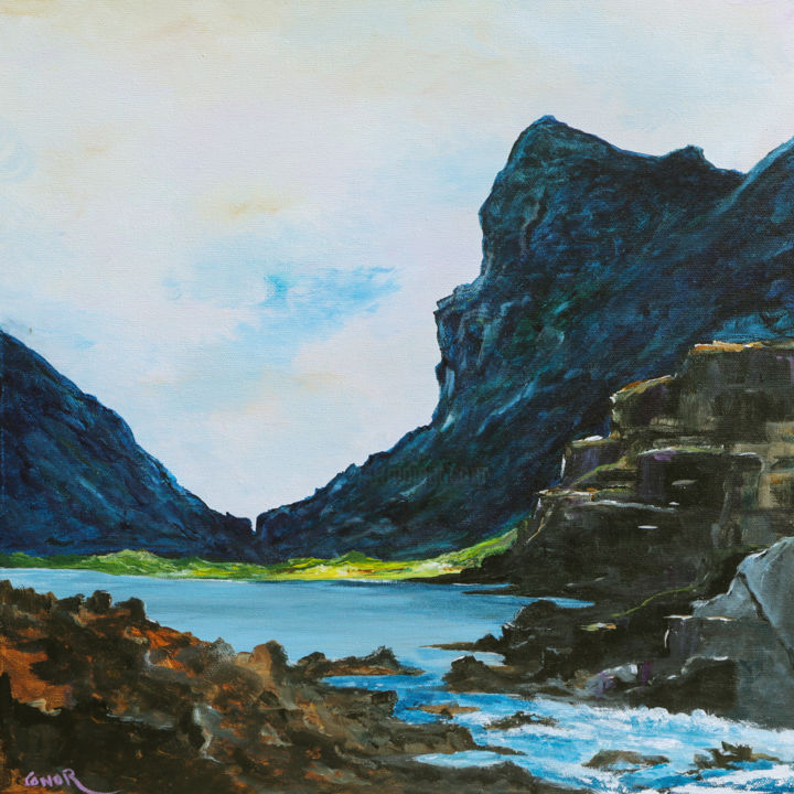 """Painting titled """"The Gap of Dunloe 2"""" by Conor Murphy, Original Art, Acrylic Mounted on Wood Panel"""