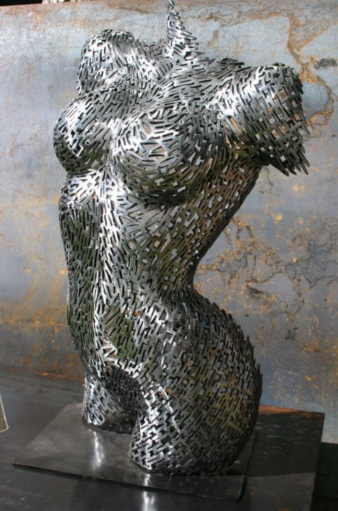 """Sculpture titled """"Rip yourself from s…"""" by Scott Wilkes, Original Art, Metals"""