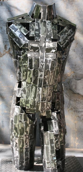 """Sculpture titled """"The holes in my ill…"""" by Scott Wilkes, Original Art, Metals"""