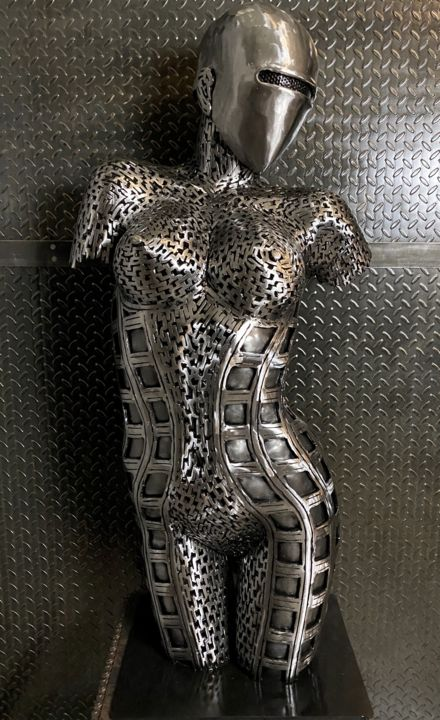 """Sculpture titled """""""" And The Earth Sto…"""" by Scott Wilkes, Original Art, Metals"""