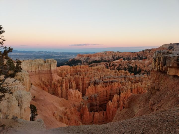 Bryce Canyon at Sunset - Photographie, ©2018 par Elke and Isabel Matthäus -                                                                                                                                                                                                                                                  Paysage, Utah, Bryce Canyon, Amphitheatre, Sunset