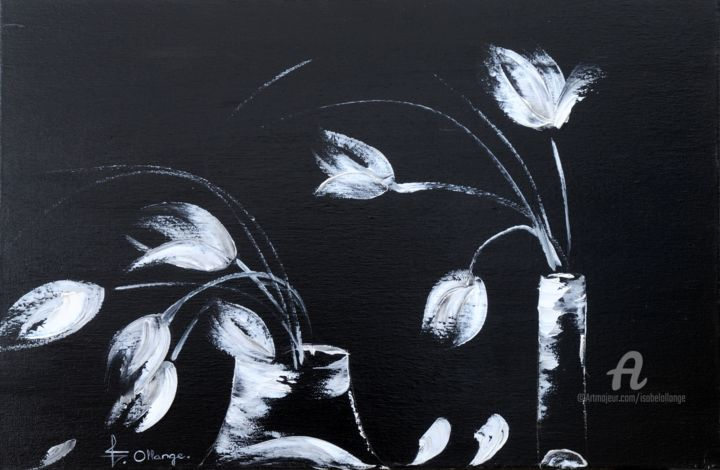 Les Tulipes Painting 70x30x2 Cm 2011 By Isabel Ollange