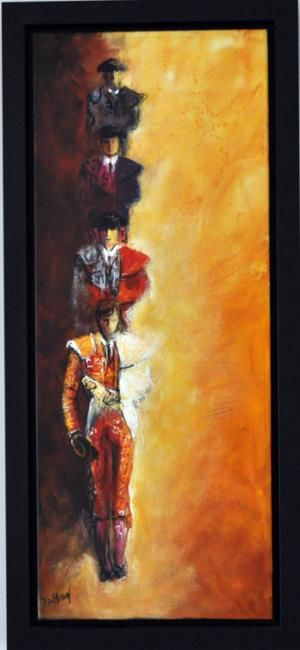 paseo - Painting, ©2011 by Isabelle Husson -