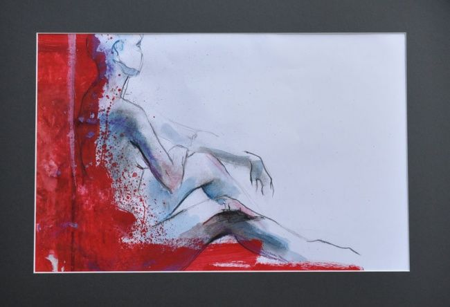detente - Drawing, ©2011 by Isabelle Husson -
