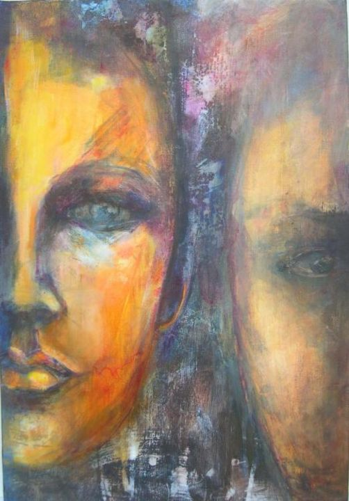 l'autre moi - Painting ©2005 by Isabelle Husson -