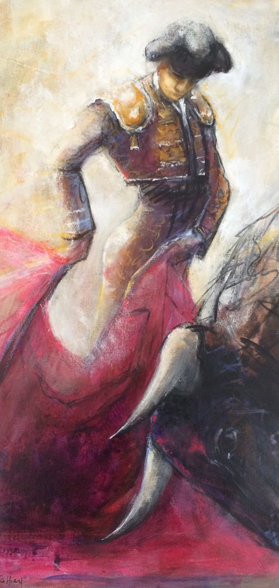 Quite - Painting,  80x40 cm ©2015 by Isabelle Husson -