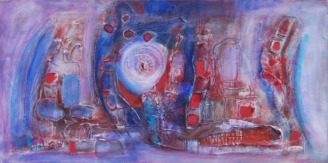 Tornada - Painting,  100x50 cm ©2008 by Isabelle Liger -