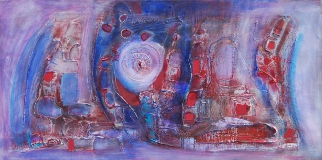 Tornada - Painting,  19.7x39.4 in, ©2008 by Isabelle Liger -