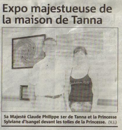 Exposition Internationale de la Maison Royale de Tanna au club house du Port de St Laurent du Var (France)