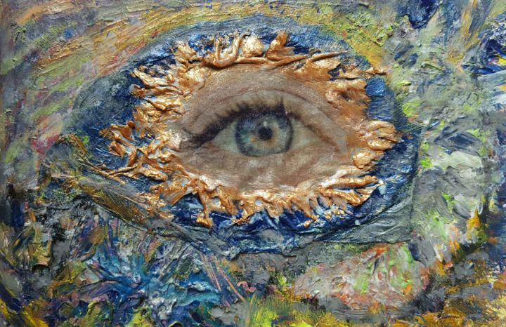 L'Oeil - Painting, ©2016 by ISANKIS -
