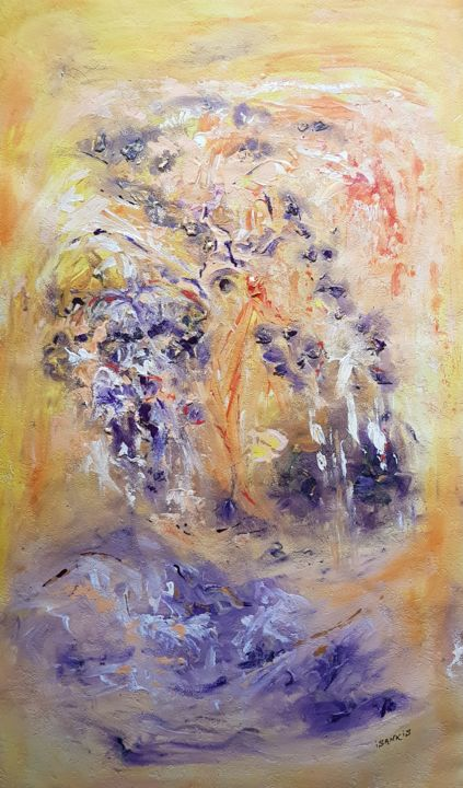 Vision - Peinture,  39,7x26,8 in, ©2020 par Isankis -                                                                                                                          Abstract, abstract-570