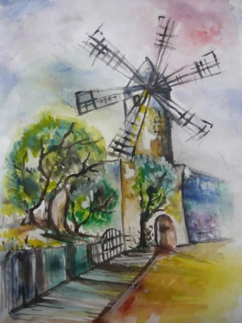 """Drawing titled """"Landscape in the wi…"""" by Iscariotteh, Original Art,"""