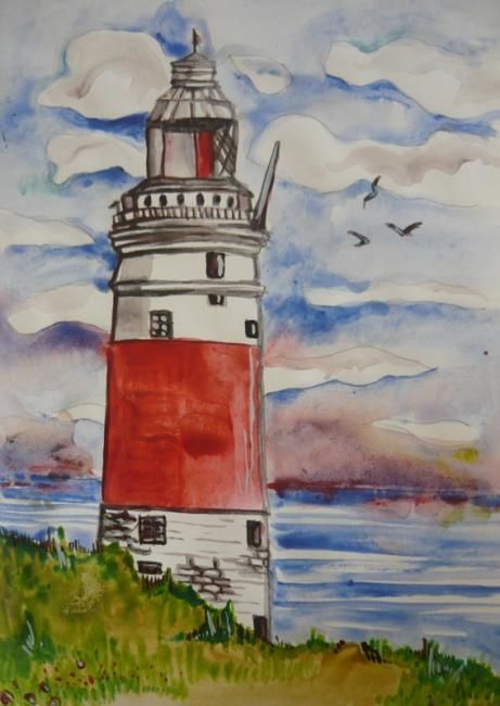 """Drawing titled """"Landscape in the wa…"""" by Iscariotteh, Original Art,"""