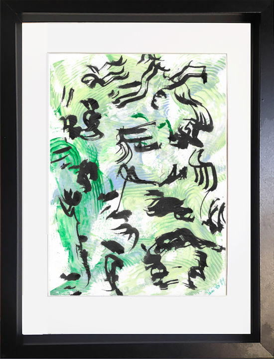 323) Ouvrage - Peinture,  11,4x8,3x0,4 in, ©2020 par Isis Bi M -                                                                                                                                                                                                                          Abstract, abstract-570, Art abstrait, ouvrage