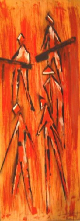 Painting,  30 x 70 cm ©2004 by Istok -  Painting