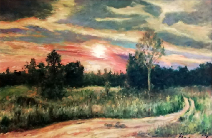 """Painting titled """"Late in the afterno…"""" by Istvan Mogyoro, Original Art, Oil"""