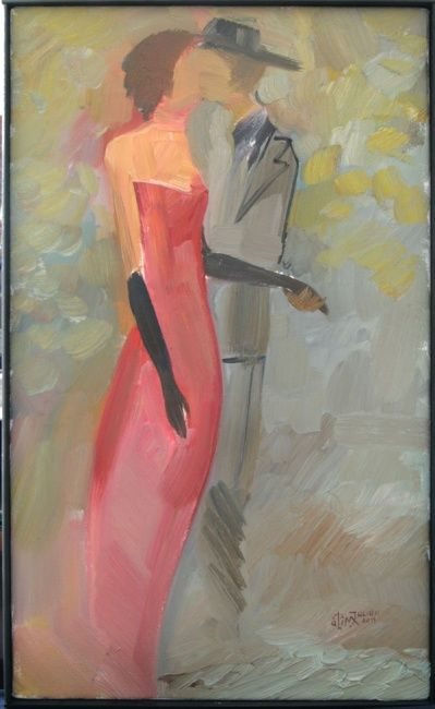 dancing - Painting,  30x50 cm ©2011 by iulian Mîță -
