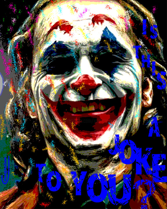 """Painting titled """"It's a joke to you ?"""" by Iure Cormic, Original Art, Acrylic"""