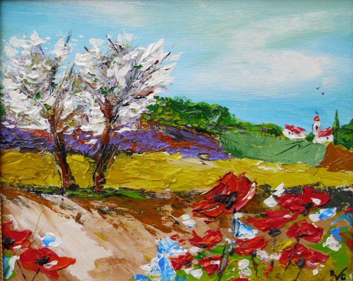 """Painting titled """"spring-in-provence.…"""" by Ivo, Original Art, Oil"""