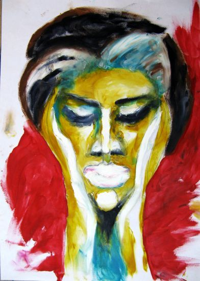Woman - Painting,  41x29 cm ©2009 by Ixygon -