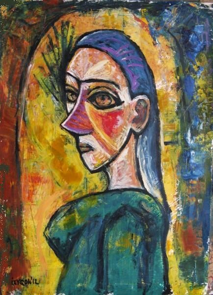 """Painting titled """"Woman (after Picass…"""" by Ixygon, Original Art, Oil"""