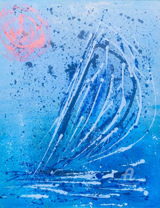 """Painting titled """"MAESTRAL: Solo"""" by Artretar, Original Art, Acrylic"""