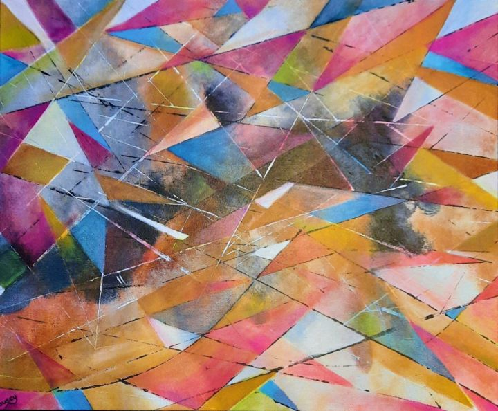 """Painting titled """"Arlequin 2"""" by Poussy, Original Art, Acrylic"""