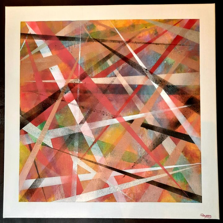 """Painting titled """"Labyrinth Lasers"""" by Poussy, Original Art, Acrylic"""