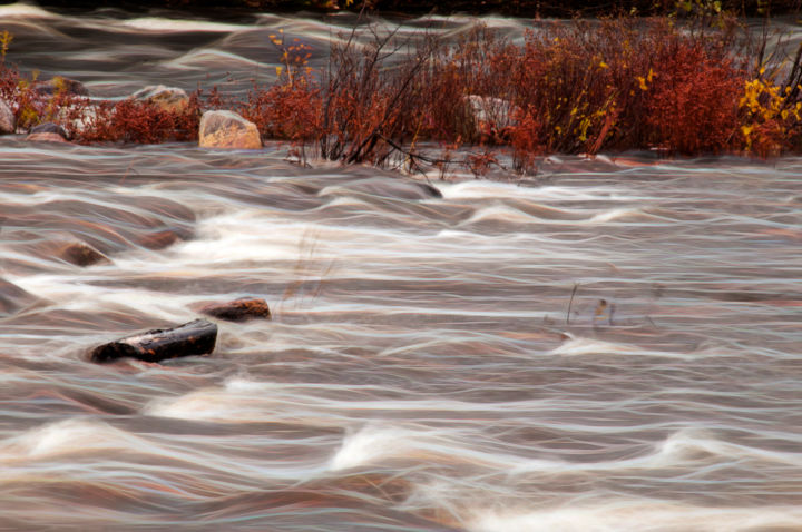 """Photography titled """"Flowing Water"""" by John Pingree, Original Art, Digital Photography"""