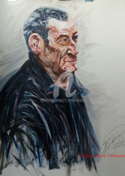 Monsieur Laurent - ©  Portrait, Acrylique, Jean-Pierre Missistrano Online Artworks