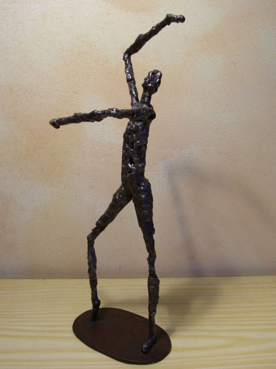 Flamenco - Sculpture,  37 cm ©2006 by Jaco -            sculpture, fer, soudé, stage
