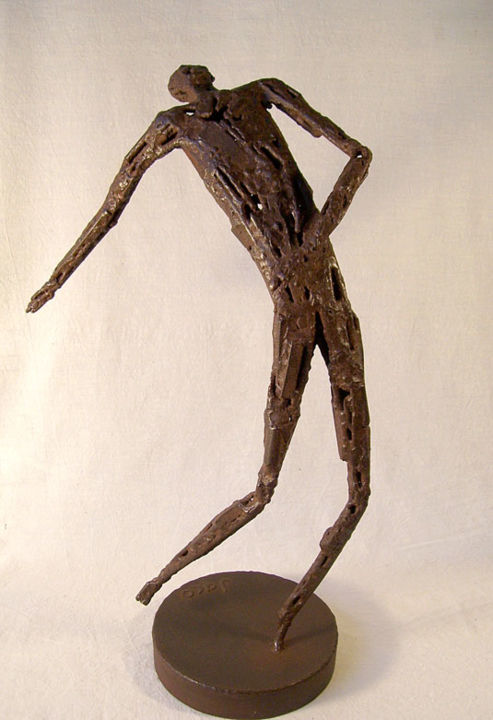 Mouvement 7 - Sculpture,  58 cm ©2006 by Jaco -            sculpture, fer, soudé, stage
