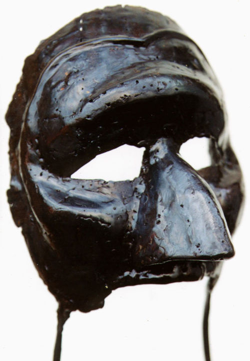 Commedia dell'arte - patine noire - Sculpture,  52 cm ©2001 by Jaco -            sculpture, fer, soudé, commedia, stage