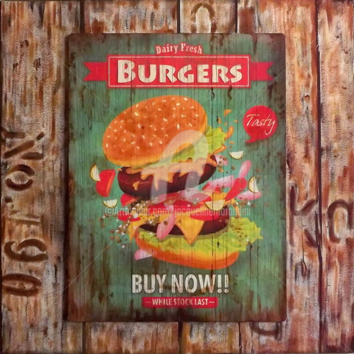 "Taste ""The Burgers"".jpg - ©  burger, nourriture, sandwich, snack Online Artworks"
