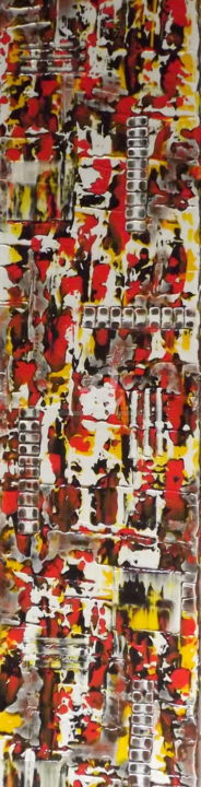 Nature Sauvage - Painting,  47.2x11.8x0.8 in, ©2016 by Jacqueline Morandini -                                                                                                                                                                                                                                                                                                                                                                                                                                                                                                                                              Abstract, abstract-570, Abstract Art, Colors, World Culture, Nature, Time, Nature, environnement, sauvage, couleurs