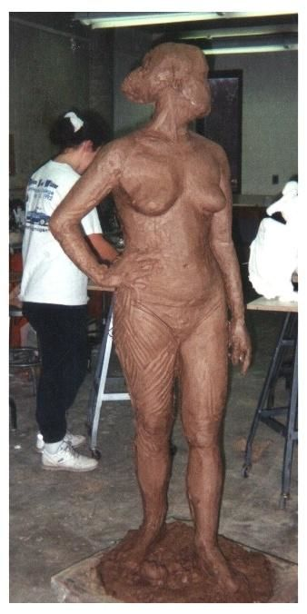 """Sculpture titled """"Life Size Clay Fema…"""" by Jacqueline Nalett, Original Art, Other"""