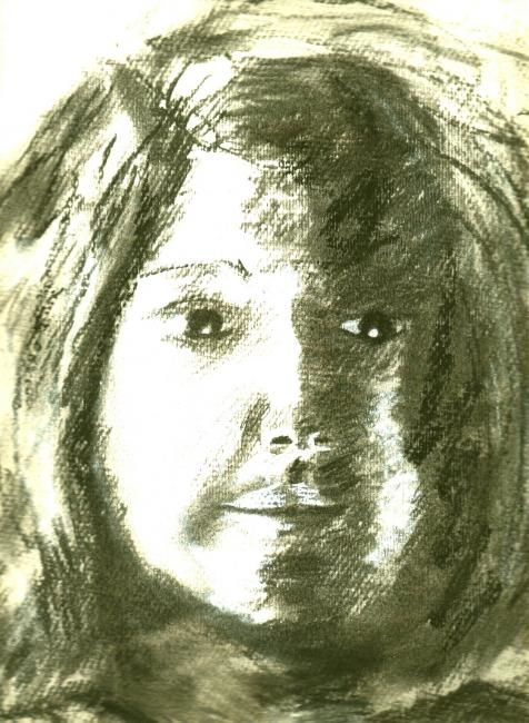 """Drawing titled """"Marie"""" by Jacqueline Nalett, Original Art, Other"""