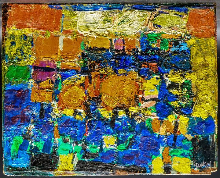 16012019-dsc-0730.jpg - Painting,  44.5x35.5 cm ©-1950 by jacques savouret -                        Abstract Art