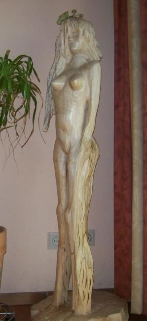 Sculpture,  35 x 30 x 132 cm ©2012 by Sculpures Culpin -  Sculpture, Wood