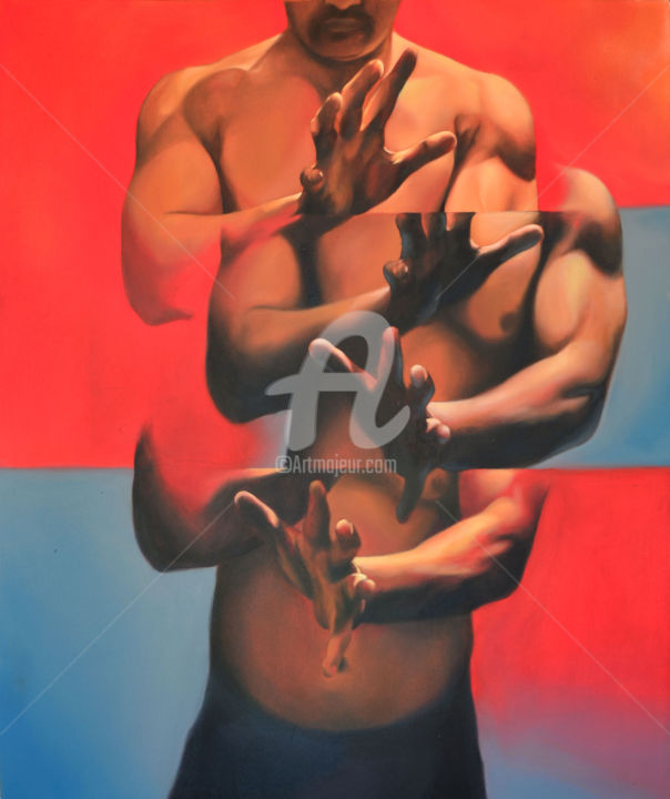 """Painting titled """"Idea of freedom 1"""" by Jalal, Original Art, Oil"""
