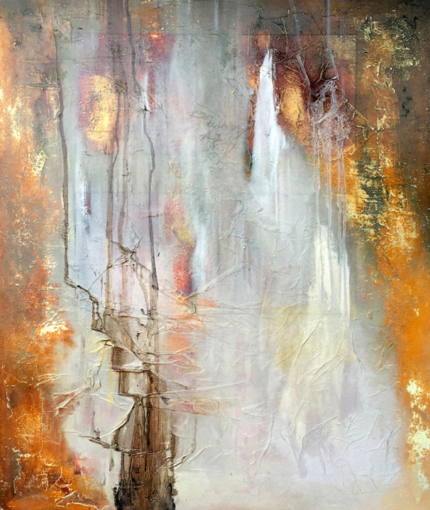 """Painting titled """"White Noise"""" by James Rooney, Original Art, Oil Mounted on Wood Panel"""