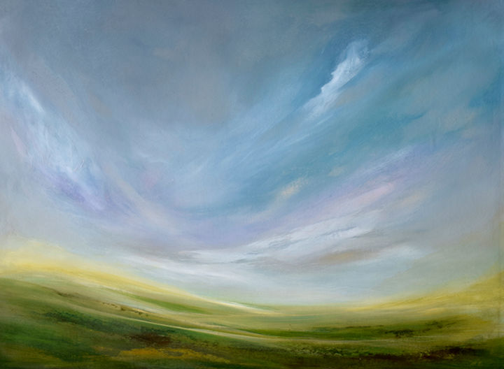 """Painting titled """"Summer Breeze"""" by James Rooney, Original Art, Oil Mounted on Wood Panel"""