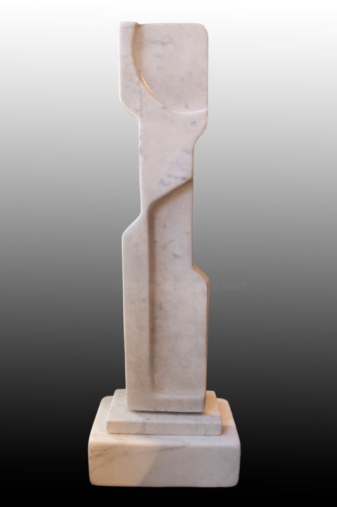Magdalena • Carrara Marble - Sculpture,  35x12x8 in ©2015 by Jan and Jo Moore -                                                                                                                                    Abstract Art, Expressionism, Figurative Art, Minimalism, Stone, Abstract Art, Body, Nude, Women, Carrara marble, stone sculpture, marble sculpture, abstract, contemporary stone sculpture