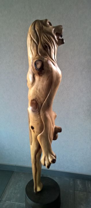 sculpture wood carving Nude woman