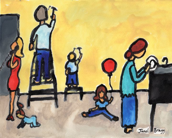 Image result for contemporary paintings of mother and family
